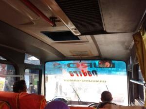 Suasana di dalam bus Sonny