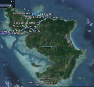 Detail jejak perjalanan kami di pulau Mapur