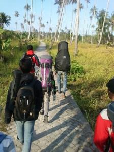 Perjalanan dari rumah Pak RT ke Sekolahan