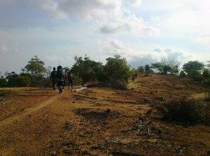 puncak salah satu bukit yang kami lewati