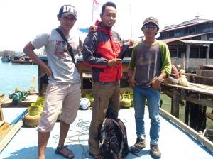 Di anjungan kapal KM Bukit Intan