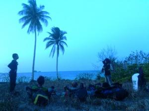 Camp area pantai larang