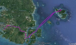 Jejak perjalanan kami mulai dari Tanjung Pinang, Kijang sampai pulau Mapur